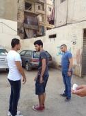 Making a Graffiti wall in Burj El Barajneh